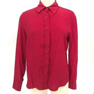The-Shirt Rochelle Behrens Top Women Size M Red Bu